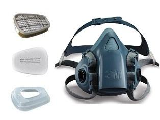 Полнолицевая маска 3М серии 6000 ( модель 6800) размер М купить в ... d58ac00172b5c
